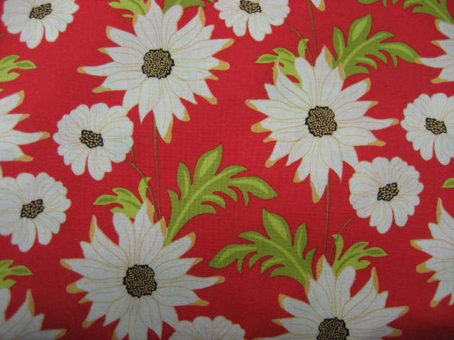 Designer flower on red