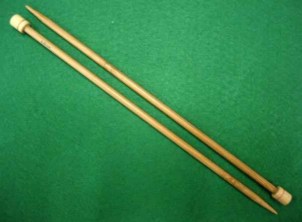 Bamboo Knitting Needles 25cm length