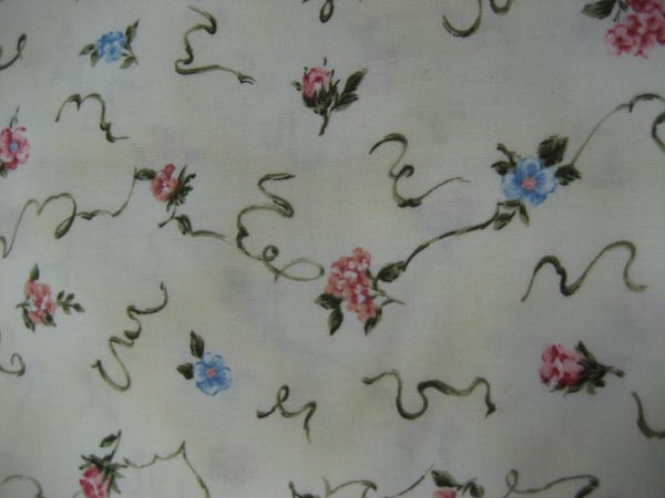 Blue & Pink Floral on Cream