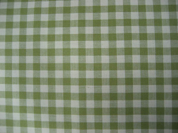 Gingham - Dusty Green and Cream check