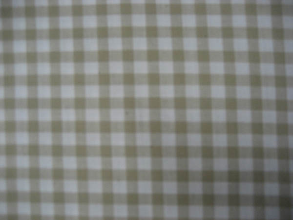 Gingham - Taupe/Light Olive check